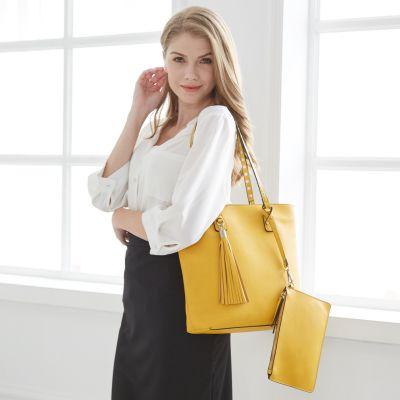 女士单肩包-黄色