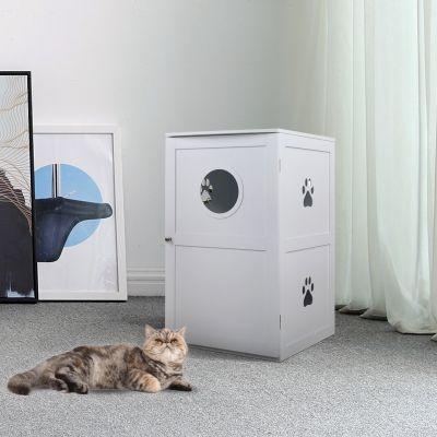 双层猫屋-白色