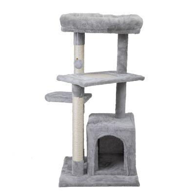 双层单猫箱-猫爬架-浅灰
