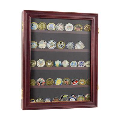 五行纪念币展示盒-红棕色
