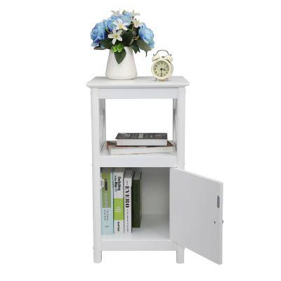 白色单门床头柜