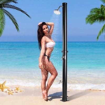 户外太阳能淋浴柱--圆柱款