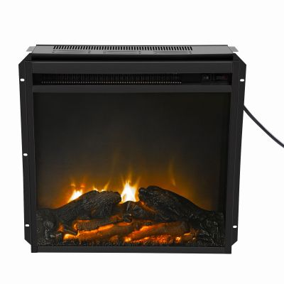 18英寸电壁炉-黑色