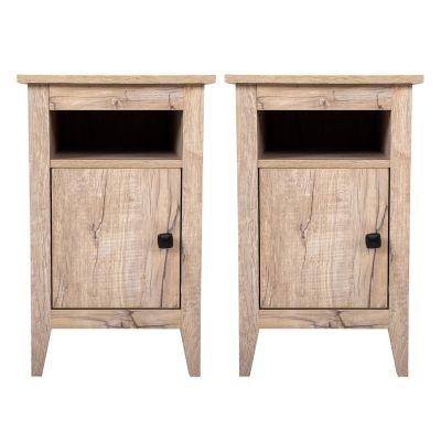 床头柜-橡木色两个装