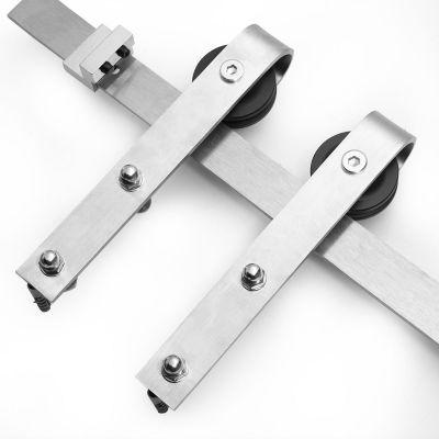 6.6FT滑门五金套装-不锈钢
