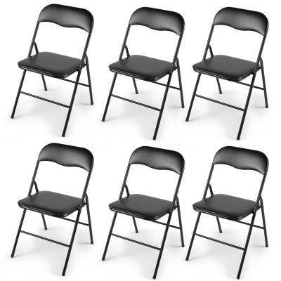折叠椅黑色--6把装