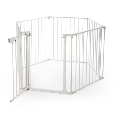 壁炉围栏-白色6片装