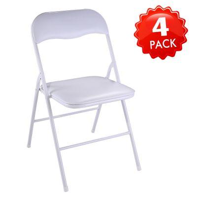 折叠椅白色--4把装