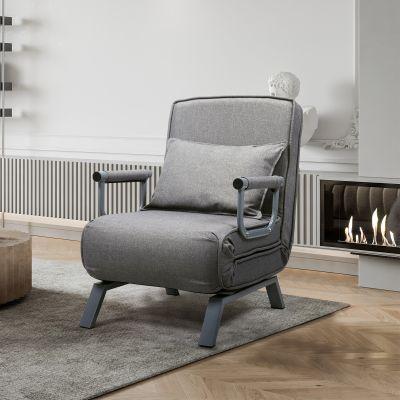 灰色可折叠沙发床带一枕头