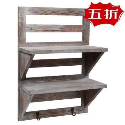 木制置物壁挂架-做旧款