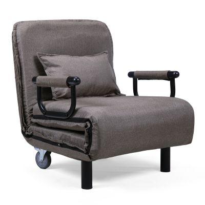 60cm棕色可折叠沙发床带一枕头