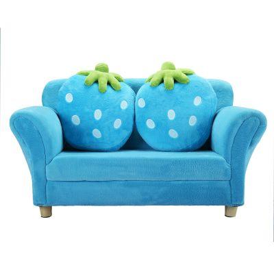 双人草莓儿童沙发-蓝色
