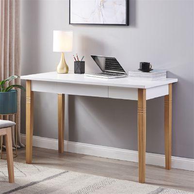 直腿办公桌-白