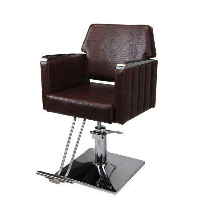方形款理发椅-棕色