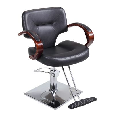 简易款理发椅--木制扶手