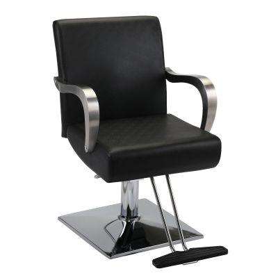 带扶手款理发椅-黑色