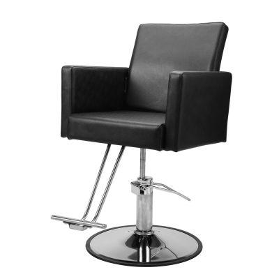 方形靠背款理发椅-黑色