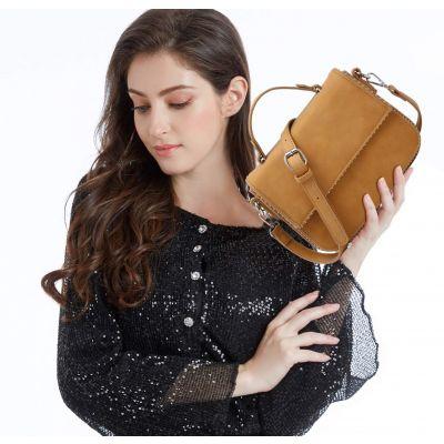 女士手提斜挎包-棕色