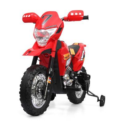 儿童电动摩托红色--带辅助轮