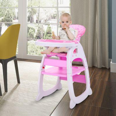 儿童餐椅粉红色