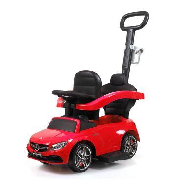 奔驰助步车带推杆-红色