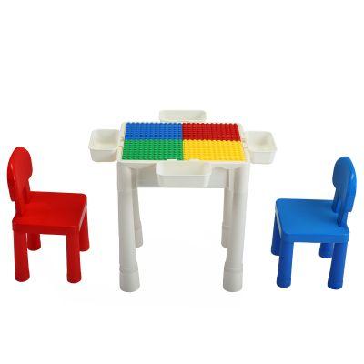 多功能积木桌-红蓝色
