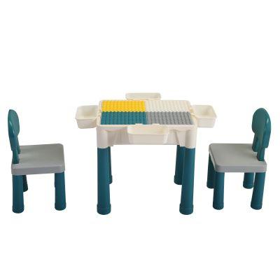 多功能积木桌-灰绿色