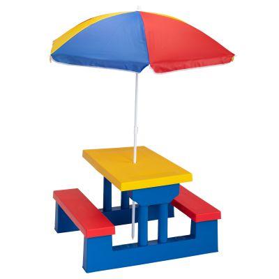 彩色儿童套桌-红黄蓝