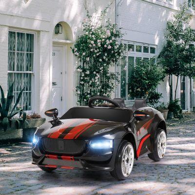 电动儿童跑车-黑红色