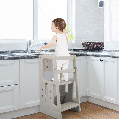 儿童厨房踏板凳-灰色